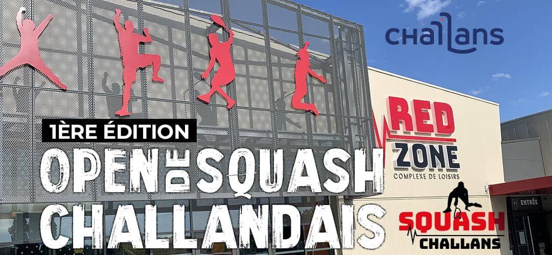 3 courts de Squash & 1 court Interactif pour le 1er Open Challandais Redzone